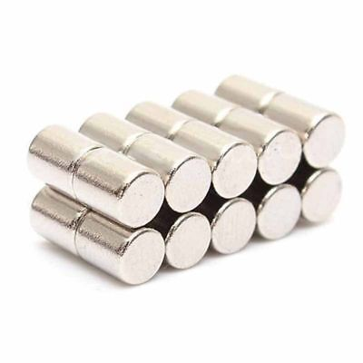 Lot 20pcs N52 4x5mm Super Strong Cylinder Round Big Rare Earth Neodymium Magnet
