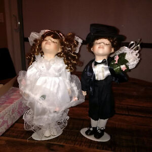 Limited Edition Porcelain Doll Set - Rose Collection Cambridge Kitchener Area image 1