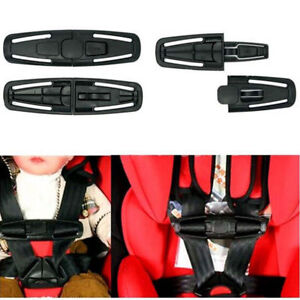 2x Baby Safety Car Seat Strap Belt Cover Toddler Chest Harness Clip Safe Buckle