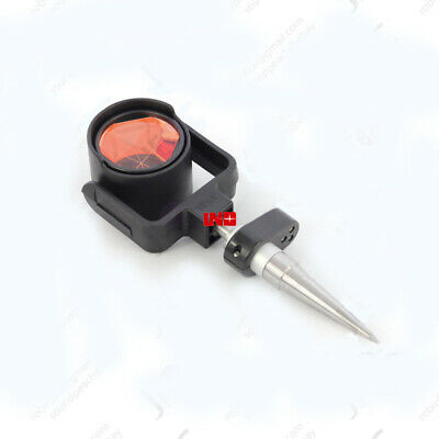 Prism Reflector With Mini Stakeout Rod Gls1 For Leica Total Station 140mm Pole