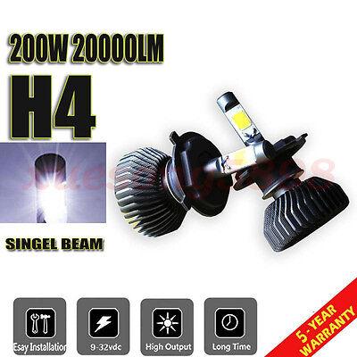 200W 20000LM H4 CREE LED Lamp Headlight Kit Car Beam Bulbs 6000K White 2pcs