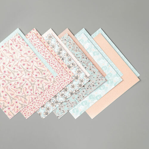 Stampin Up PARISIAN BLOSSOMS Designer Series Paper- 12 Sheets of 6x6 Paper! New