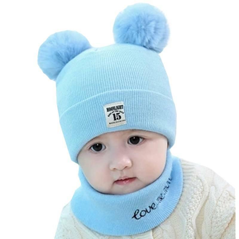 Toddler Girl Boy Baby Infant Winter Crochet Knit Hat + Set