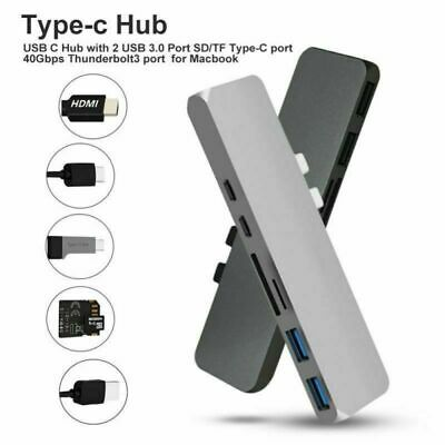 7 in 1 USB C Hub USB 3.1 Type C Adapter Dock Card Reader 4K HDMI For MacBook Pro