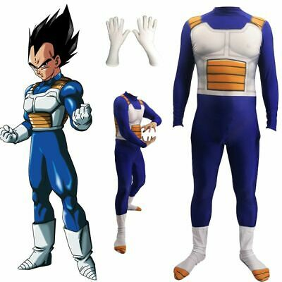 Cool Dragon Costumes (Cool Dragon Ball Z Vegeta Cosplay Costume Jumpsuit Zentai Adult Kids Party)