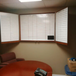 Dry Erase Board with Cabinet
