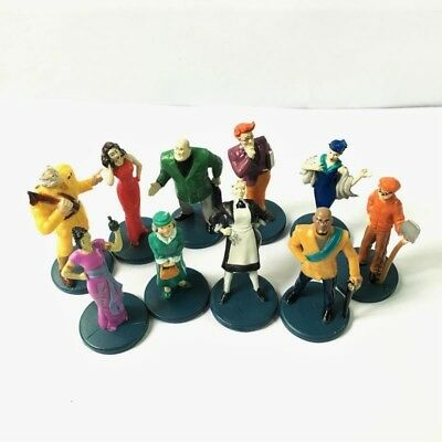 2002 Clue Game 10pcs Suspects Pieces Tokens Movers Characters Figures Parts M779