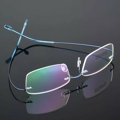 Best Ultra light Titanium Alloy Rimless Eyeglass Optical Spectacl Frames