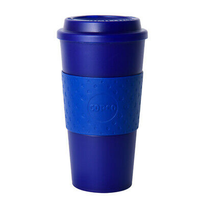 Copco Acadia Travel Reusable Coffee Tea Mug 16 Ounce Plastic Translucent Navy 16 Oz Translucent Travel Mug
