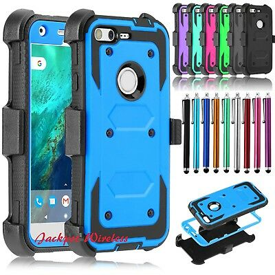 For Google Pixel Holster Case Cover Built-in Screen Protector with Belt