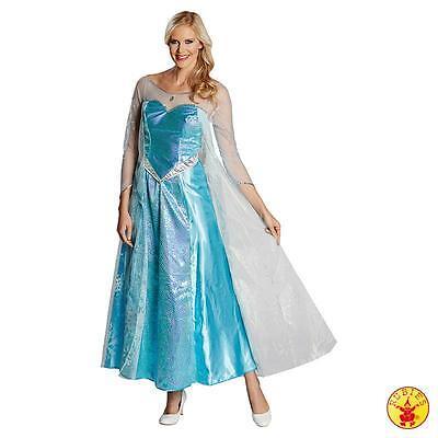 Damen Disney Prinzessin Kostüme (IAL Disney Lizenz Damen Kostüm Elsa die Eiskönigin Prinzessin S M L)