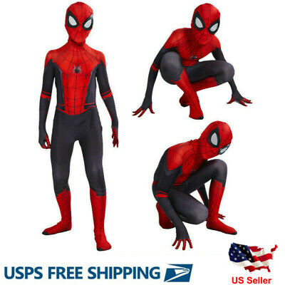 Costume For Boy (Spider-Man Far From Home Kids Boys Spiderman Zentai Cosplay Costume Tights)
