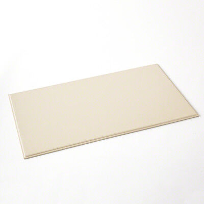 Classic Minimalist Ivory Cream Leather Desk Blotter Pad Office Desktop Neutral