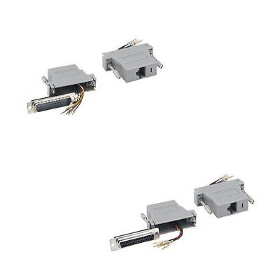 D-Sub Modular Adapter DB25 to RJ45 Male Female M/F F/F Network Ethernet Cat 5e 6 Db25 Network Adapter