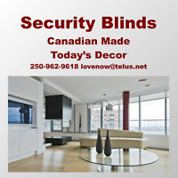 Security Window Coverings + Quality Furniture Created For You