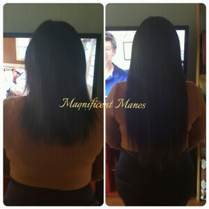 Hair extensions by Magnificent Manes
