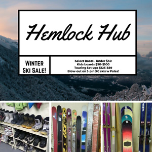 Winter Sale Fat Powder Skis Snowboards Boots Bindings and more!
