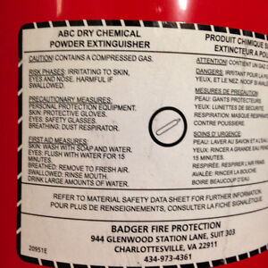 10 LB Badger Advantage ABC Dry Chemical Fire Extinguisher London Ontario image 2