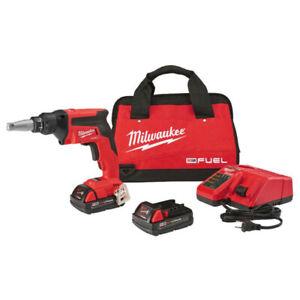 Brand New Milwaukee M18 Fuel Brushless Drywall Screw Gun kit