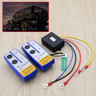 12VOLT Recovery Wireless Winch Remote Control 2 Handset Switch For JEEP ATV SUV