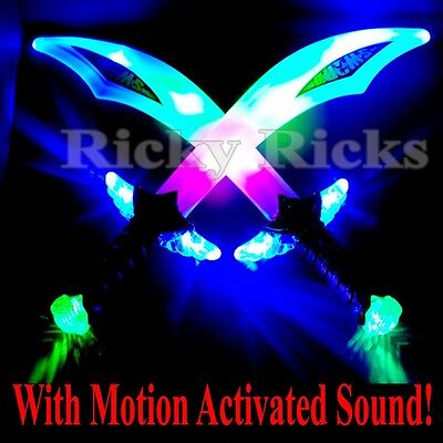 Ninja/Pirate Light-Up Buccaneer Sword LED With Motion Activated Sound Flashing