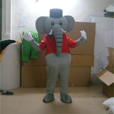NEW Cute Elephant Mascot Costume Dress Outfit Adult Cosplay Birthday Party Suit](Mascot Outfit)