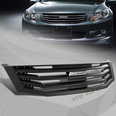 For 2008-2010 Honda Accord Sedan 4 Door Black Vertical Bumper Front Grille Gril