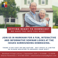Getting Ready to Downsize? Attend our FREE Seminar!