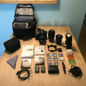 Nikon D700 Camera *Full Kit DSLR*  3 Lenses + Speedlight SB 700