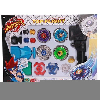 Top Metal Master Fusion Rapidity Fight Beyblade 4D Launcher Grip Set Kid Toys