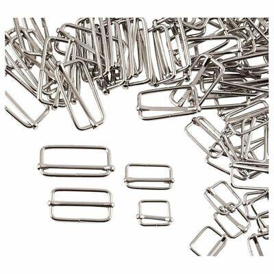 Tri Glides- 160-Pack Slider Buckles, Metal Rectangle Adjuste