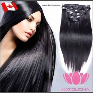 100% HUMAN VIRGIN REMY Hair /CLIP IN hair extensions 7 pcs set Yellowknife Northwest Territories image 5