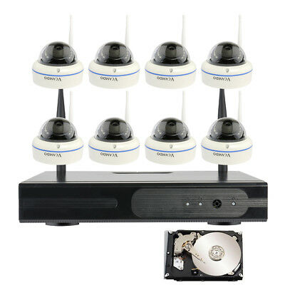 Domestic Business Surveillance Security System 8 Wireless Dome Camera with 1TB HDD