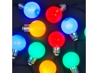 20 Multi-Colour Party Ball LED Lights