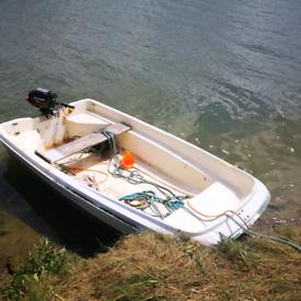 Orkney Dory 315 10' Fishing Boat & Suzuki 2.5hp Outboard Motor