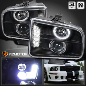 2005 2009 Ford Mustang Led Projector Headlights Black