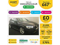 Black AUDI A3 SALOON 1.4 1.6 1.8 2.0 TFSI Petrol S LINE S-T FROM £67 PER WEEK!