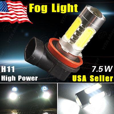 1PCS Super White H11 7.5W  COB Projector LED Bulb Fog/Driving DRL Lamp Headlight