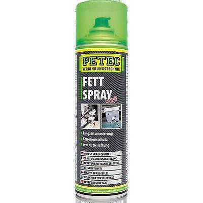 Petec Fettspray 500 ml Fett Haftfett Spray KFZ PKW weiß