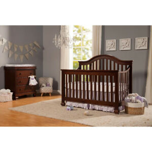 4 IN 1  CONVERTIBLE CRIB, AND MATTRESS