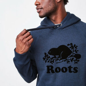 Buying: Roots Kanga Hoody - Size Small - Mens - Blue Pepper