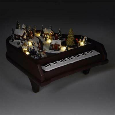 Halloween Song Piano (Winter Lane Animated Musical Piano Plays 8 Xmas Songs LED Lights New In Box)