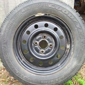 Winter Tires on Steel Rims - New Condition