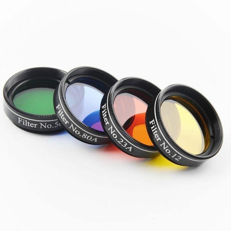 Solomark 1.25 Inch 4pcs Color Filter Set for Telescope Eyepiece