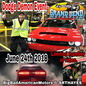 Get a ride down the DRAG STRIP in a Dodge Demon