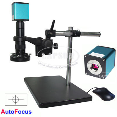 1080p 60fps Hdmi Auto Focus Microscope Camera 180x Lens Stand Sony Sensor Imx290
