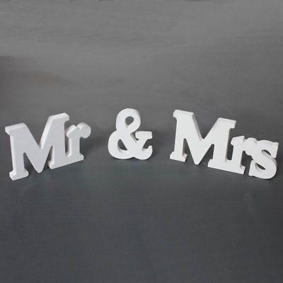 3ER SET MR MRS BUCHSTABEN HOCHZEIT HOLZ STEHEND DEKORATION VERLOBUNG WEDDING
