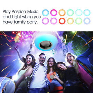 Color Changing Bluetooth Light Bulb Speaker With Remote