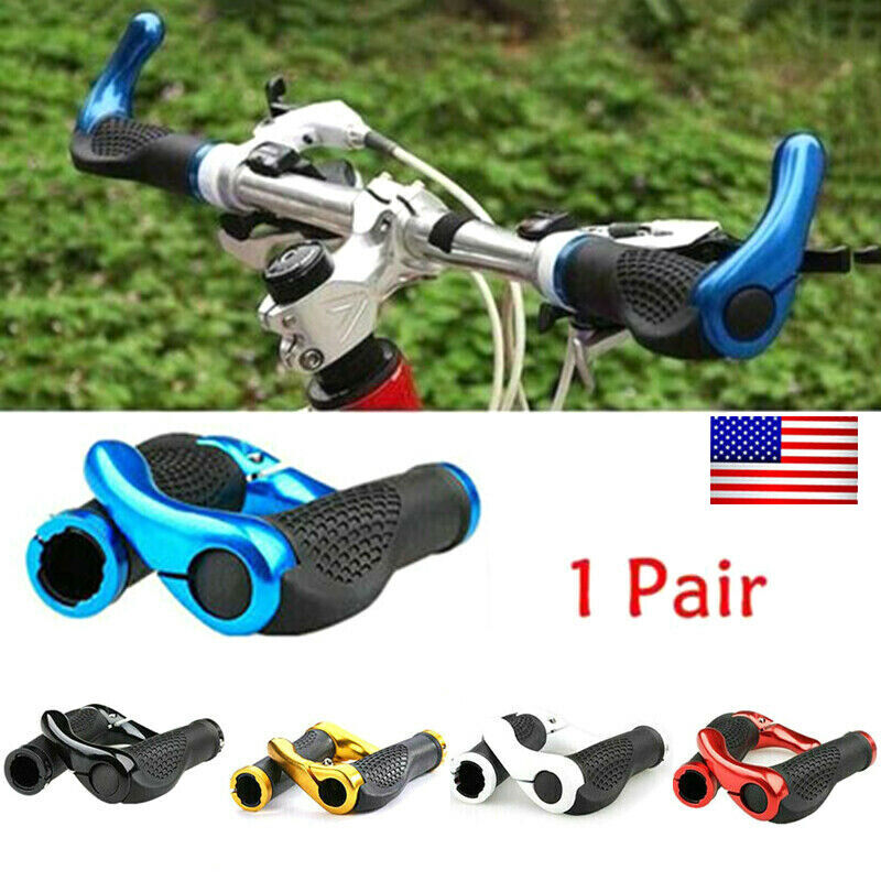 1Pair Bike Double Lock Handle Sleeve Bicycle Grips Anti-Slip Handlebar Cover