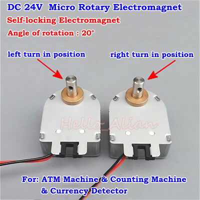 Dc 24v Mini Rotating Type Self-locking Rotary Motion Solenoid Electromagnet